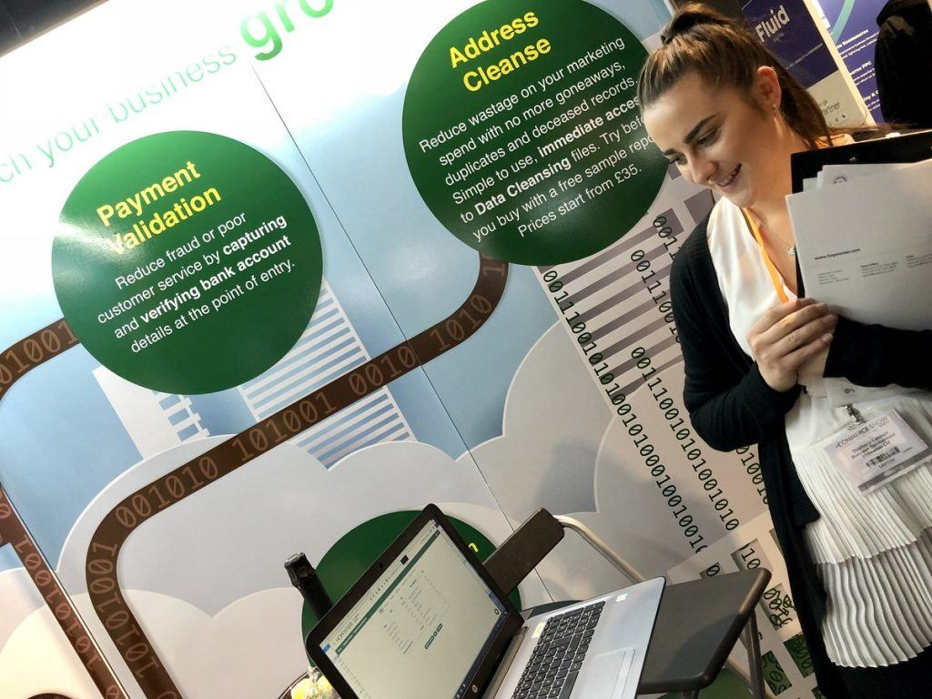 Sales graduate, Stephanie, at eCommerce Show North