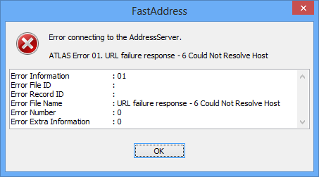 fastaddressclient-error-unresolved-host